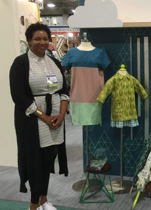 Cute dress and kid's shirt in Cotton + Steel designer Rashida Coleman-Hale's new line Raindrop