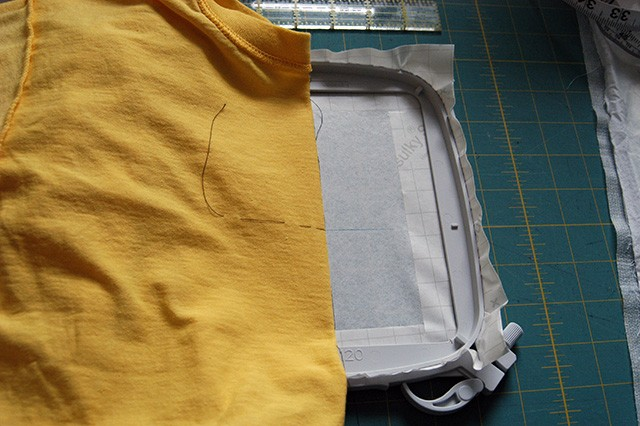 Machine embroidery series on t shirts and