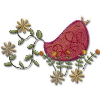 red-retro-humming-bird