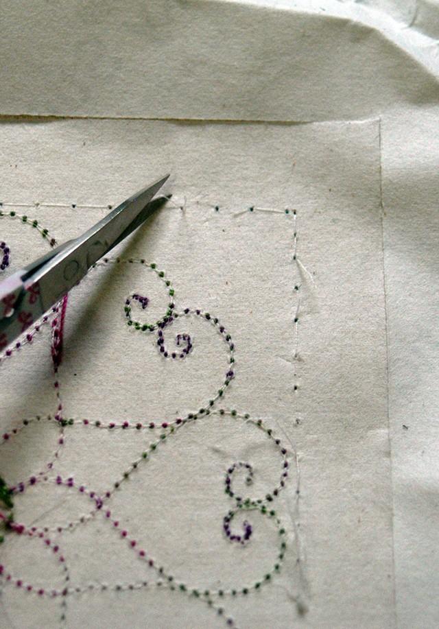 snip bobbin threads