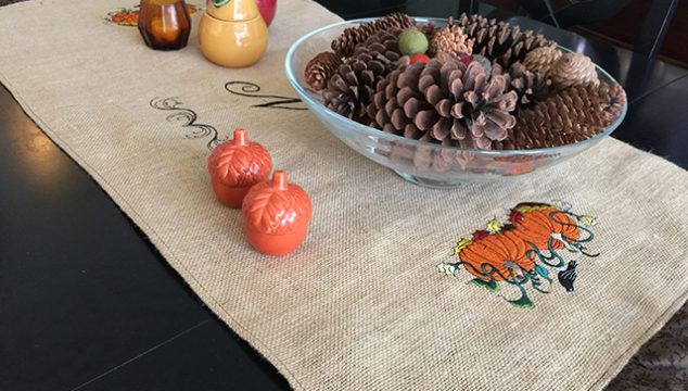 An Easy Burlap Table Runner Perfect For Your Fall Table