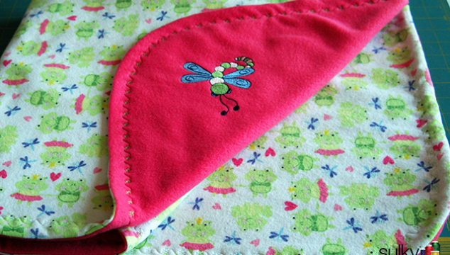 Machine Embroidery Series – FREE Baby Blanket Tutorial