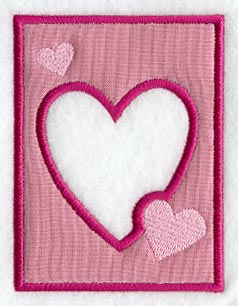 In the hoop embroidery valentine's frame