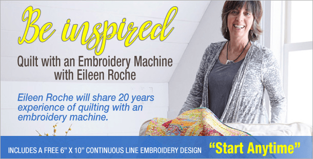 Free Webinar – Quilting with Your Embroidery Machine!