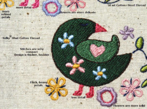 machine embroidery series