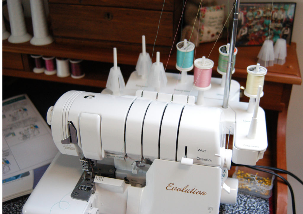 serger threaded with Poly Deco thread