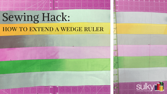 Sewing Hack: How to Extend a Wedge Ruler