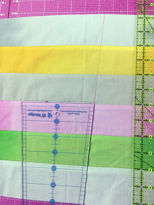 sewing hack, wedge ruler