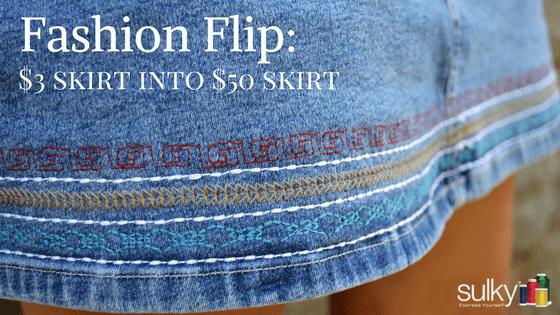 Fashion Flip | Turn A $3 Denim Skirt Into A $50 Skirt