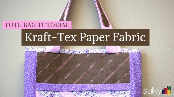 DIY: Kraft-Tex Paper Fabric Tote Bag