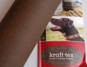 Kraft-tex paper fabric tote bag