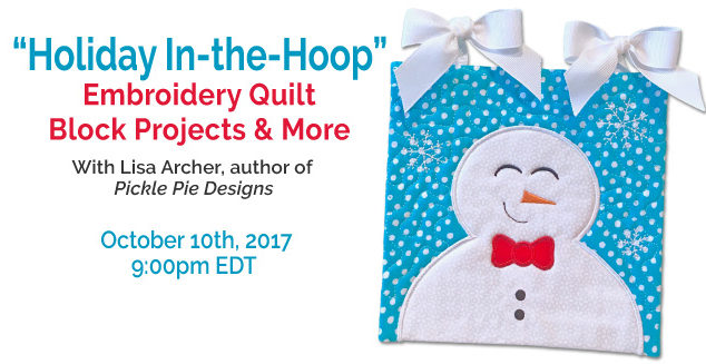 Free Webinar: Holiday In-the-Hoop