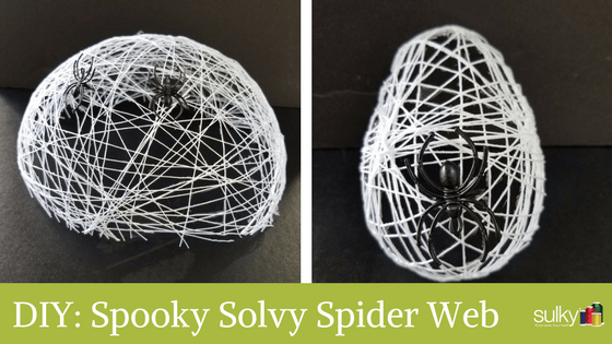 Spooky Solvy Spider Web in 10 Easy Steps