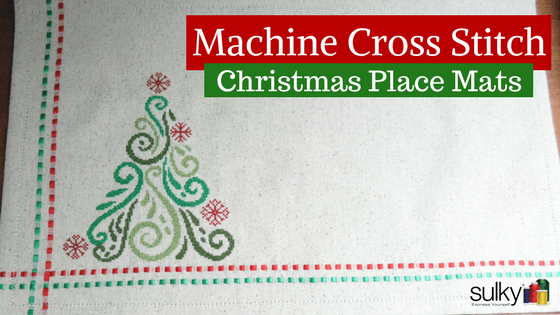 Machine Cross Stitch – Christmas Place Mats