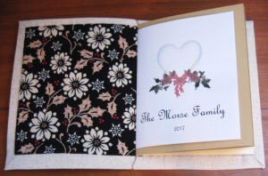 Machine Cross Stitch Journal Cover