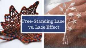free standing lace vs. lace effect