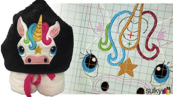 Free Webinar Unicorn Towel Hoodie Sulky