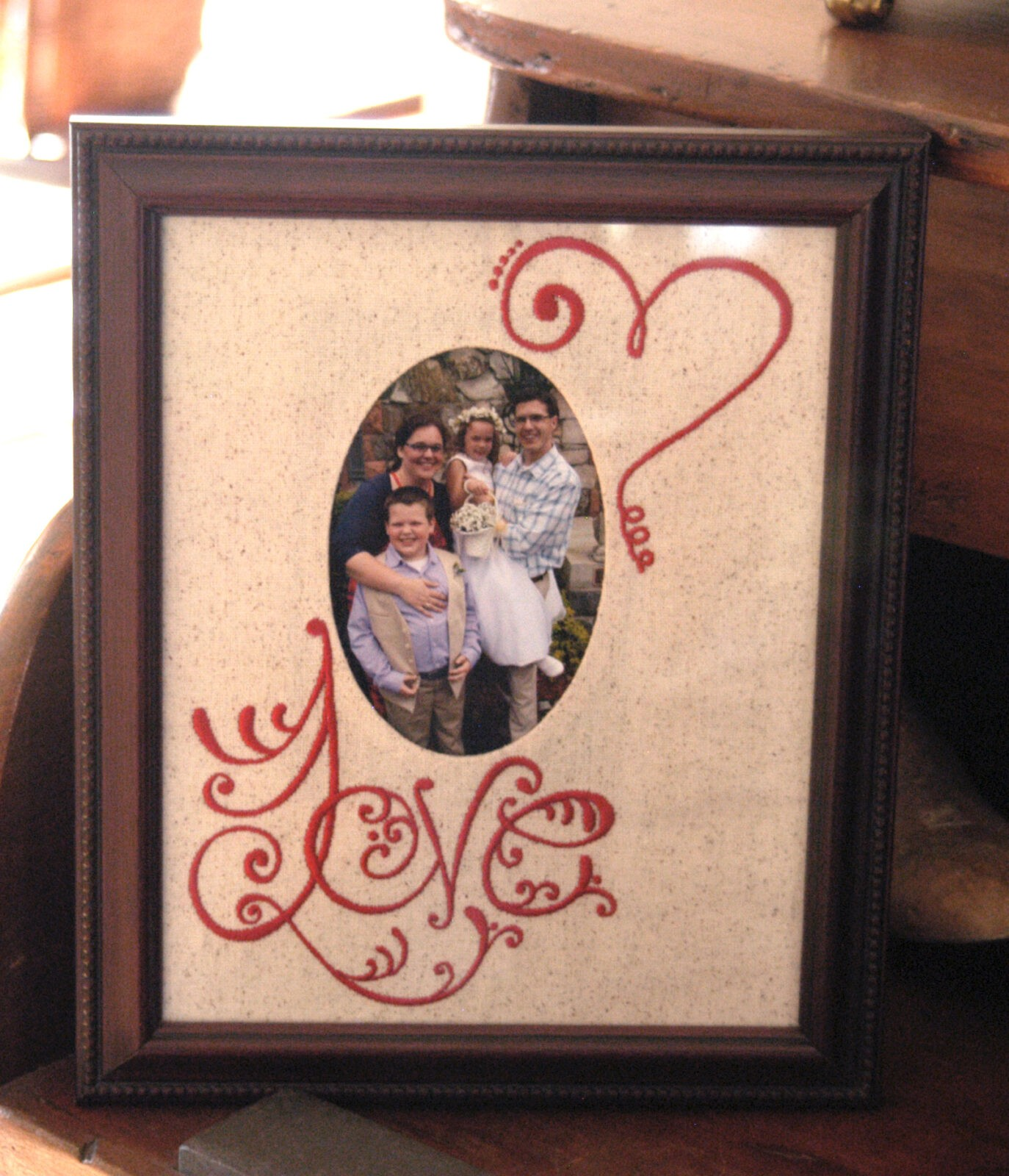 Valentine S Day Diy Photo Frame Mat Sulky
