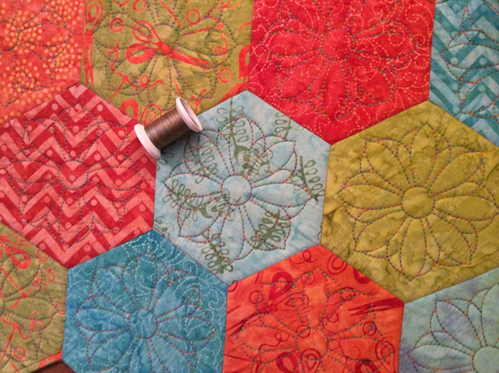 Quilting with Sulky 30 wt. Cotton Blendables Thread