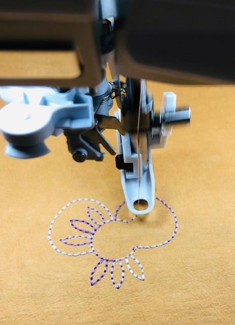 Machine Embroidery in Progress