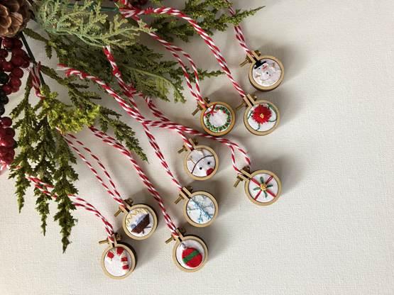 Christmas Embroidery Patterns Free.Holiday Mini Hoop Ornaments Free Hand Embroidery Patterns