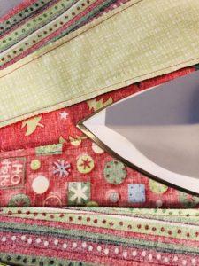Press seams toward darker fabric
