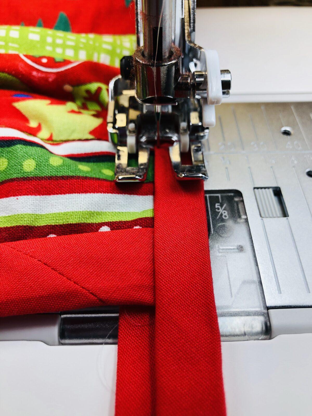 stitch binding to inner circle