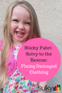 fixing damaged clothing with sulky sticky fabri-solvy