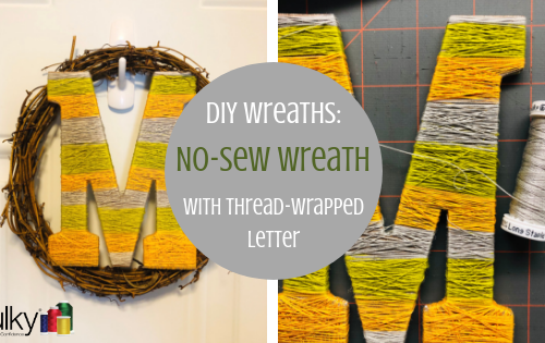 no sew wreath