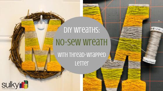 no sew wreath