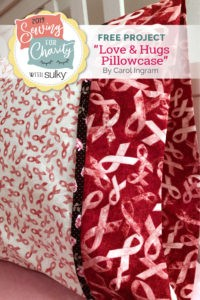 sewing for charity breast cancer awareness pillowcase pattern