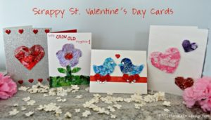 scrap fabric valentines day cards