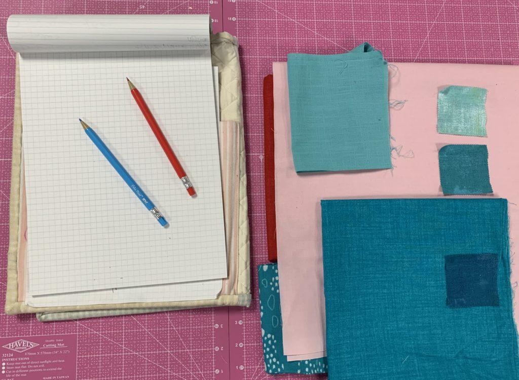 modern quilt design fabric prep