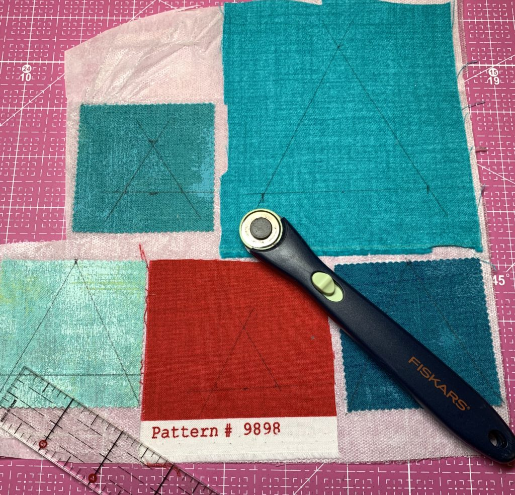 modern quilt design triangle shapes