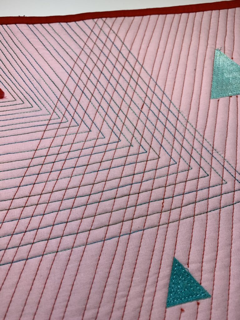 modern quilt design quilted lines