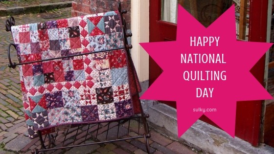 National Quilting Day + free quilt pattern & embroidery design - Sulky