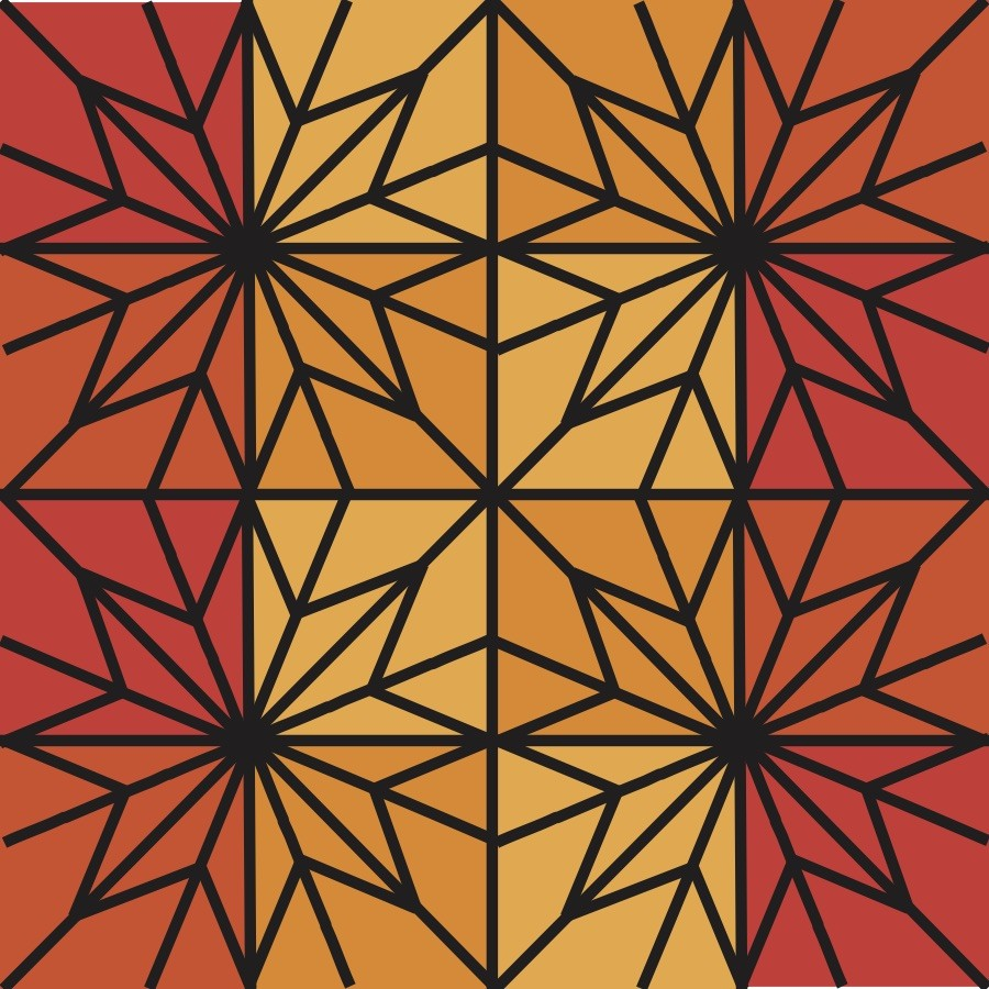 Starline Quilt Orange mock