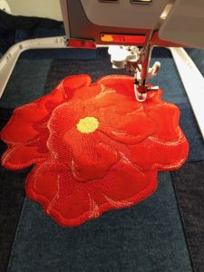 Memorial Day Poppy Bag Embroidery