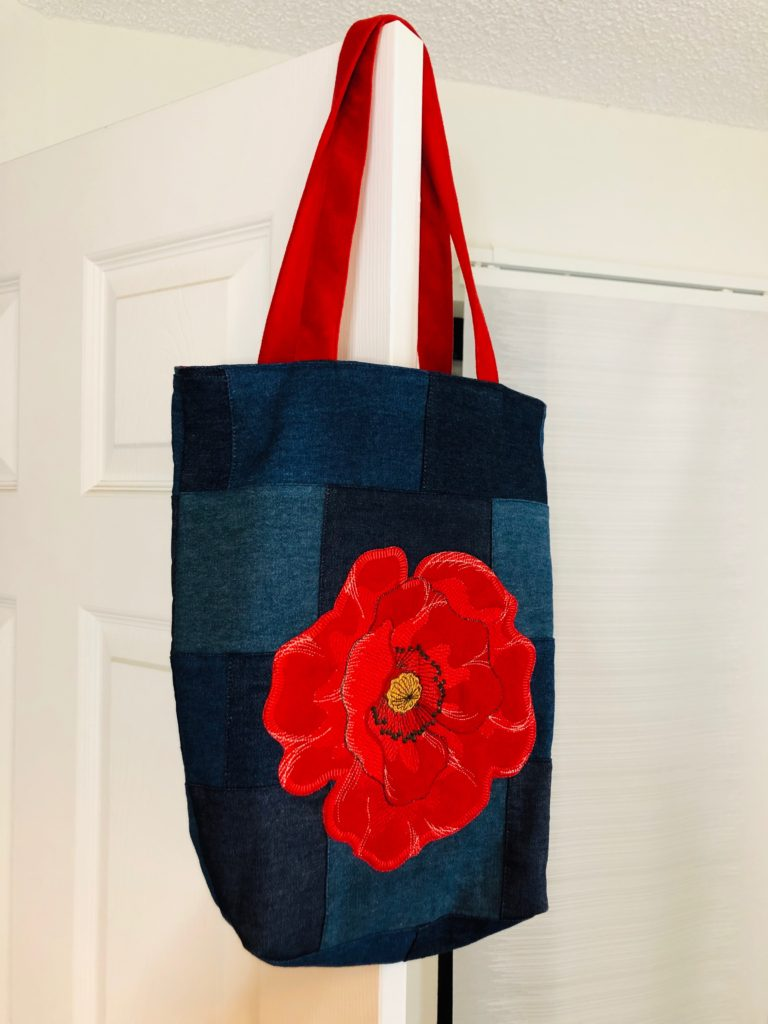 Memorial Day Poppy Bag