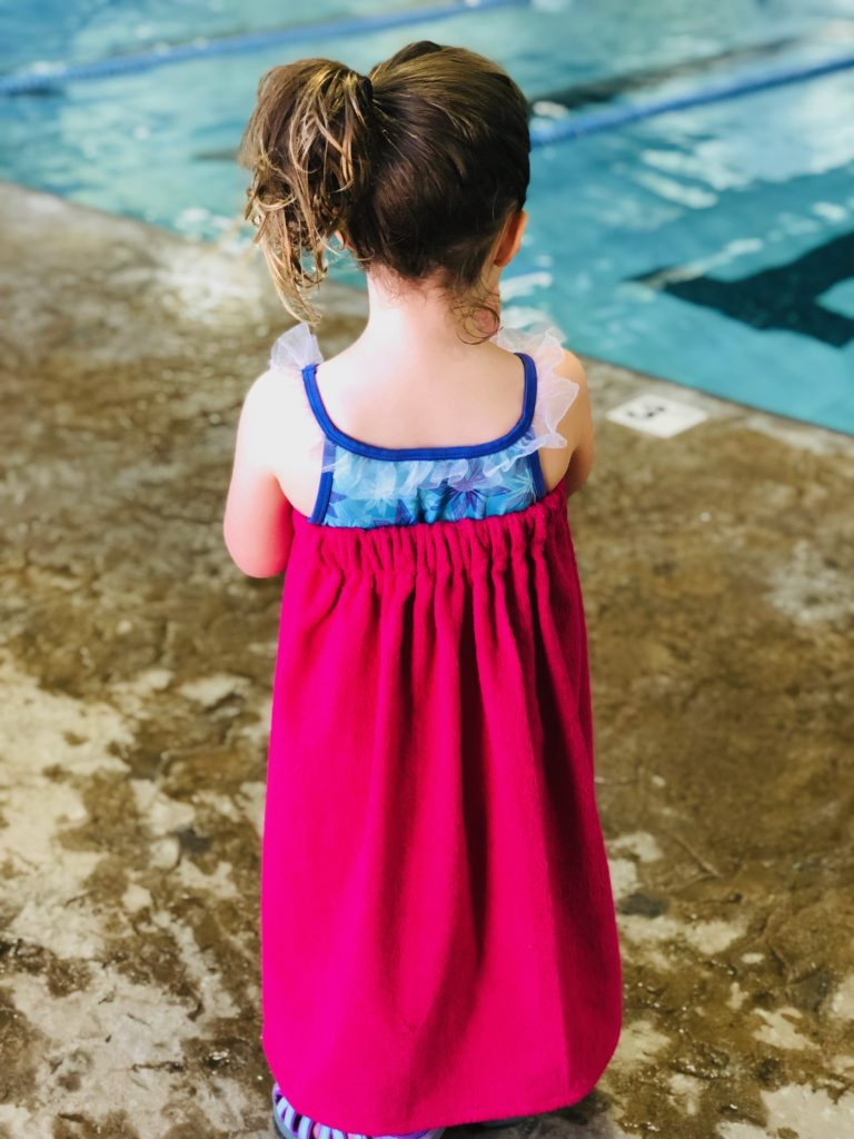 embroidered swim coverup back
