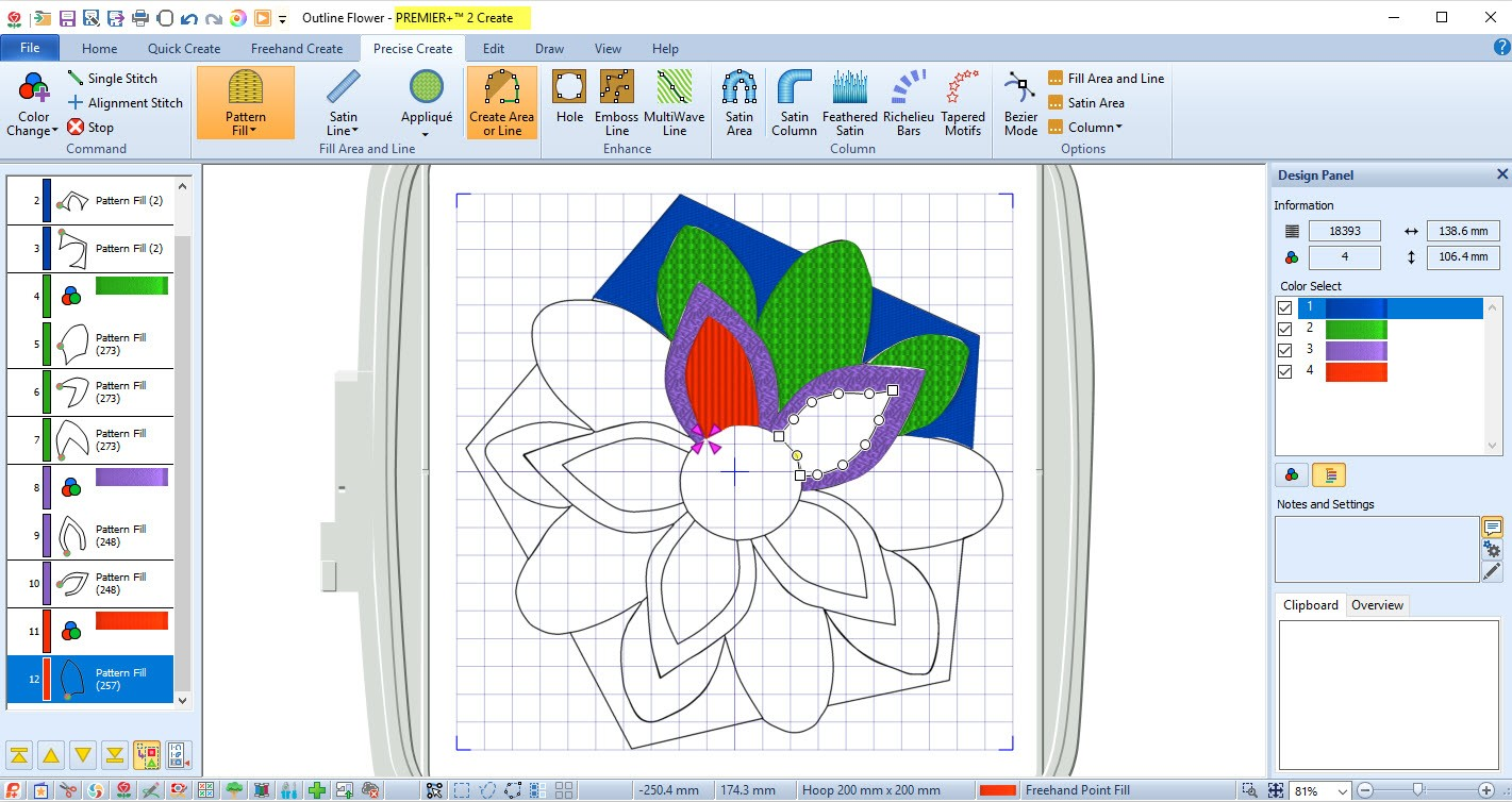 machine embroidery digitizing terms