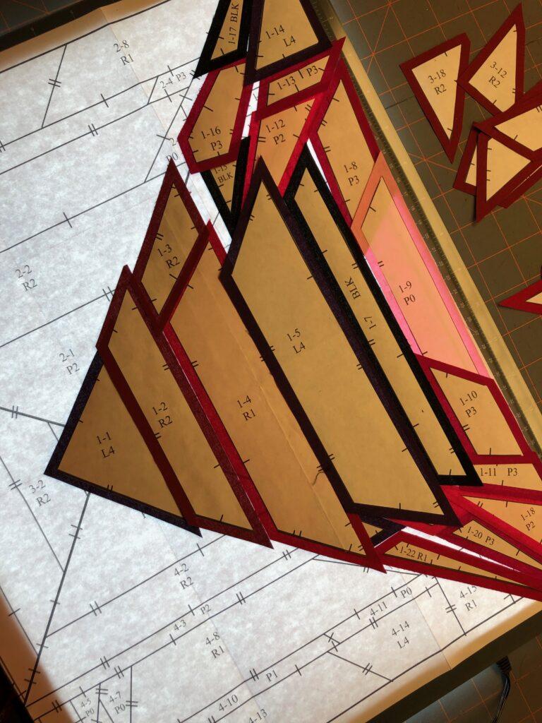 July Birthstone Block on light box