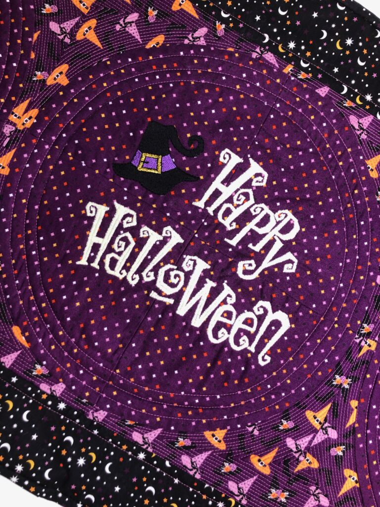 Halloween Table Runner close up