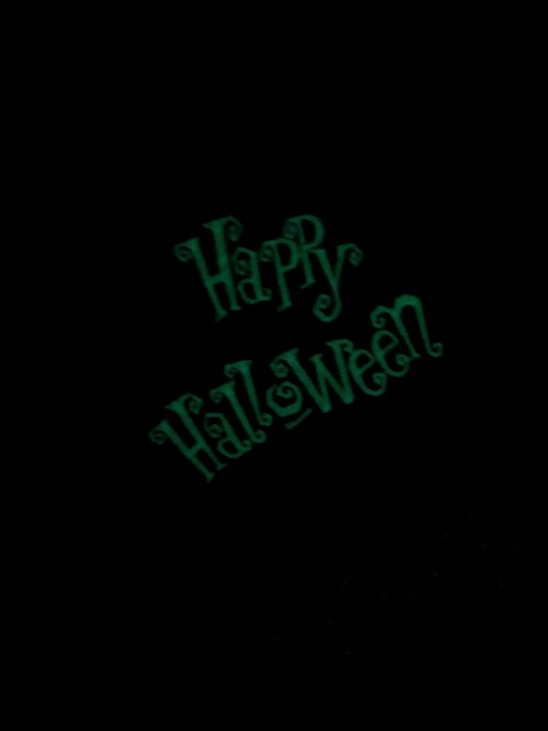 Halloween Table Runner glow in the dark