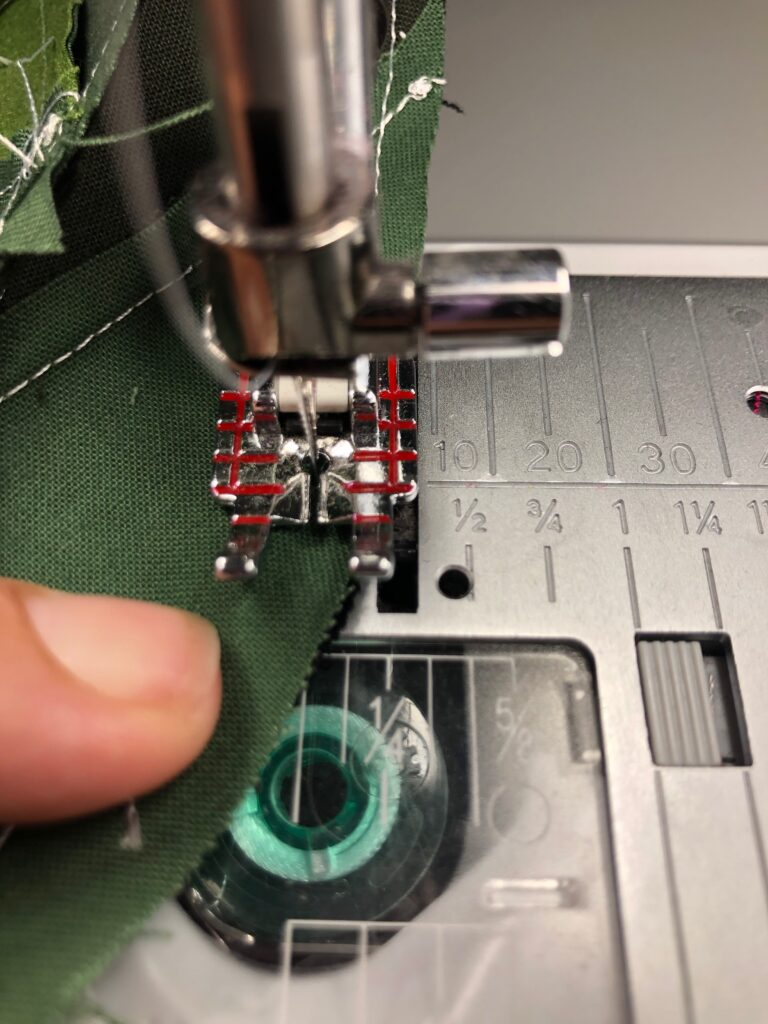 finishing curved seam
