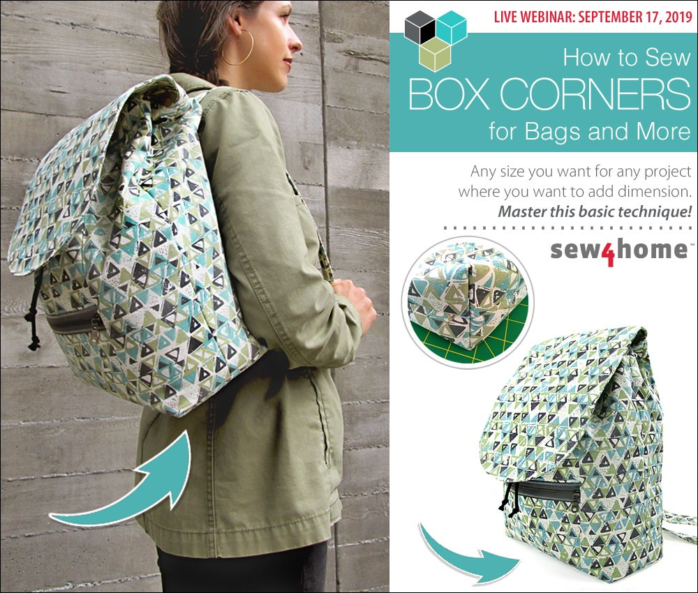 how to sew box corners