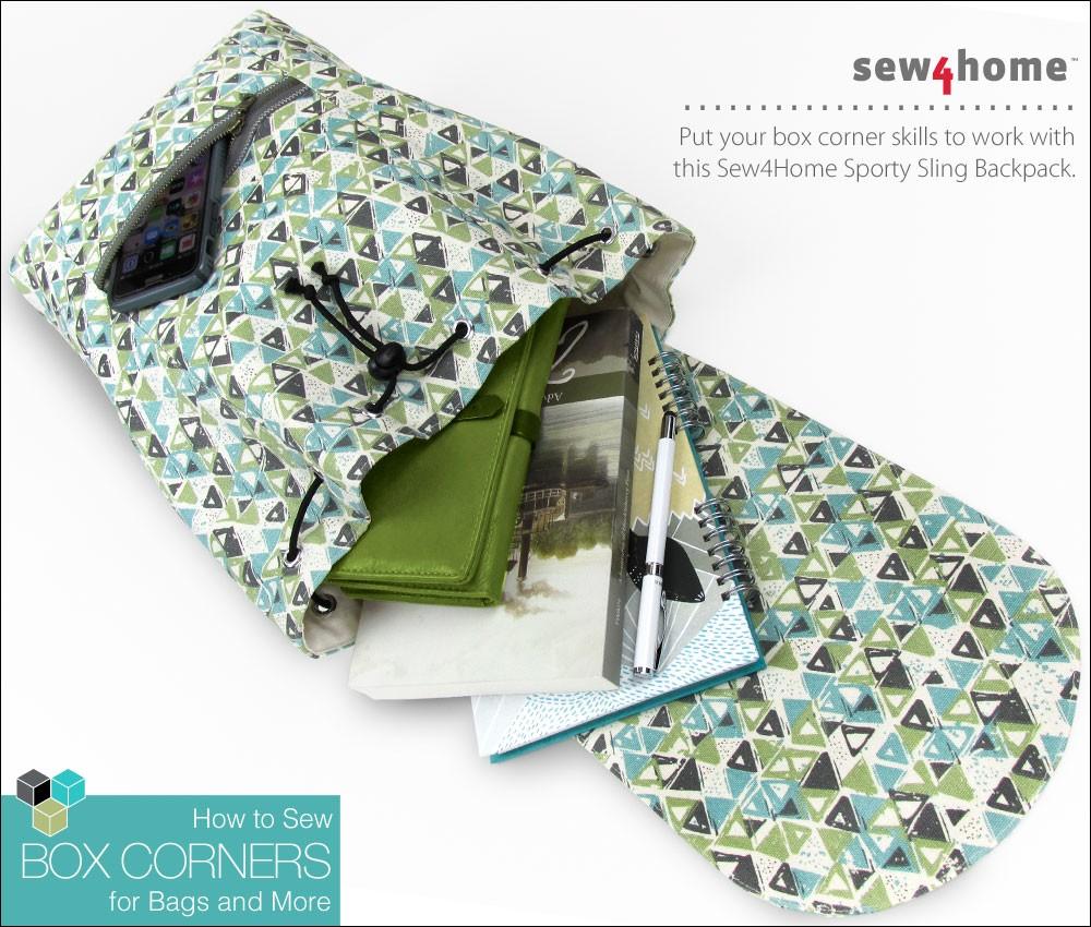 how to sew box corners backpack