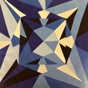 pieced Sapphire block