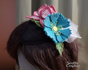 Floral Fascinator to sew for Halloween