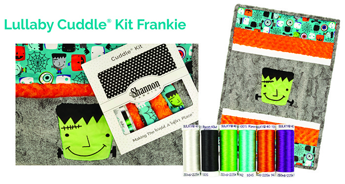 Halloween quilt kit with thread